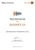 Budimex distinguished as the Responsible Employer of 2017